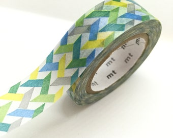 Japanese colorful Washi Tape Masking Tape green blue yellow gray Pretty Tape