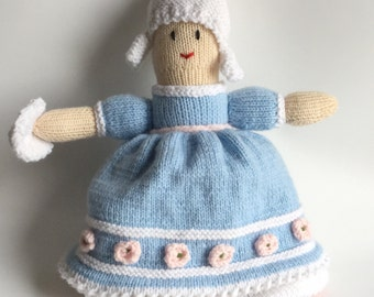 Princess Topsy Turvy Doll Hand Knitted Cinderella 2 in one doll