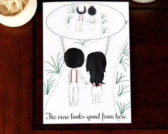New Relationship, Young Love, Imagine the Future Together, Good View, Valentine's Day, Cheesy Romanctic Card