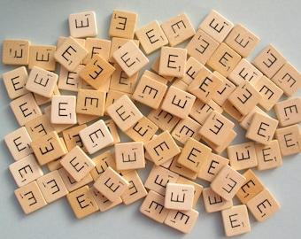 50 pcs bulk Scrabble letter tiles, wooden letters, game pieces