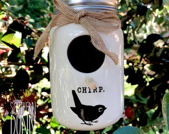 DECAL ONLY, Rae Dunn Inspired Vinyl Birdhouse Decals, Rae Dunn Inspired Decals, Rae Dunn DIY Birdhouse, Birdhouse Decals