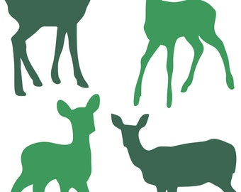 4 pieces babydeer clipart for commercial  and personal use ! printble clip art ! digital file vector instant download!  wholesale bundle