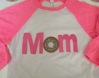 Mom donut shirt, parent coordinating donut party shirt, mom birthday party matching shirt,