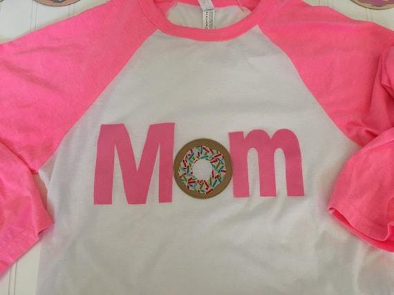 Mom donut shirt, parent coordinating donut party shirt, mom birthday party matching shirt,
