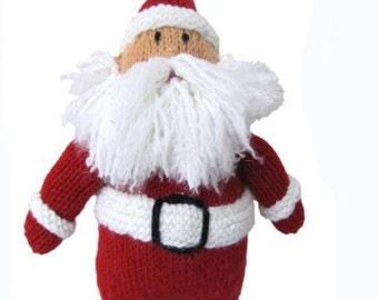 Knitting Pattern- Aran- Santa Clause Toy-Lovely Christmas toy to knit pdf 99p