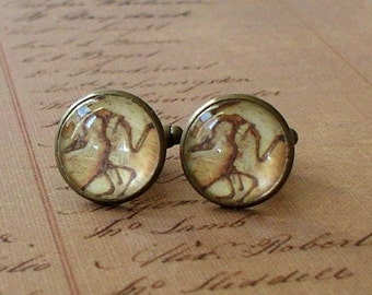 20% OFF -- 16 mm Old Vintage look Feathered Dinosaur Fossil  Cuff Links ,Mens Accessories, Anchor Cufflinks,Perfect Gift Idea