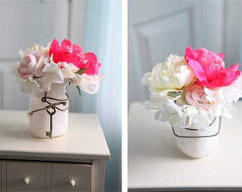 Mini Pink Floral Decor
