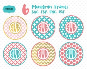 Monogram svg, monogram svg files, svg files for cricut, monogram svg designs, circle monogram svg, circle monogram frame svg,   Id#mf9