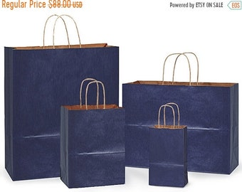 Spring Sale 100 pack  Assortment of 4 most popular sizes Tinted Kraft handled Merchandise Bags