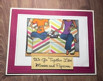 Bestfriend or Friend Greeting Card