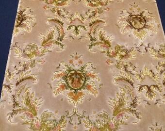 Luxurious Cut Velvet Fabric Plush Decorator Cloth Book Cover or Lampshade Material