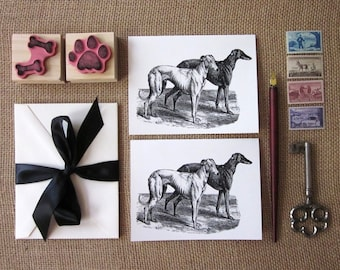 Greyhound Dog Note Cards Set of 10 with Matching Envelopes