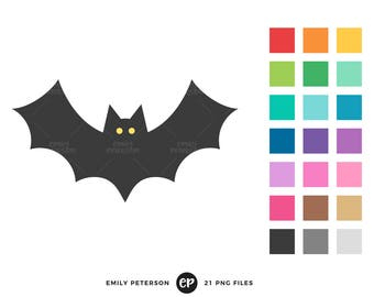 50% OFF SALE! Bat Clip Art, Halloween Clipart, Bat Silhouette Clip Art - Commercial Use, Instant Download