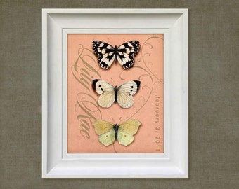 Childrens Art Print - Personalized Butterfly 8x10 Baby Room Decor