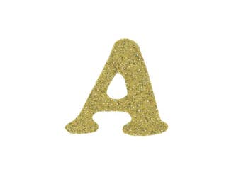 Gold Alphabets Applique - Gold Letters Patch - Alphabets Iron on Applique - Glitter Patch - Letter Applique - Include all alphabets