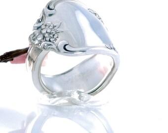 Vintage Spoon Ring - Fredericksburg Silverware Spoon Ring - Spoon Jewelry - Silverware  Ring - Spoon Ring - Silverware Jewelry (mcf  R512)