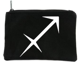 Zodiac Sagittarius Sign Cosmetic Makeup Bag Pouch Astrology Horoscope The Archer - DYS-HTV-007-MKBG-Sagittarius