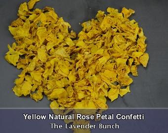 Natural Confetti Dried Yellow Rose Petals
