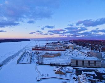 Wisconsin Shipyard in Winter