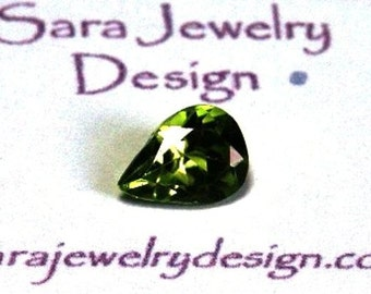 1.14 carat 8x6mm Pear Shaped Peridot Solitaire Loose Gemstone