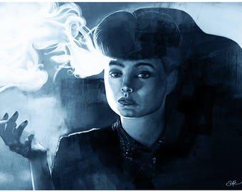 BLADE RUNNER - Rachael (Sean Young) portrait art print