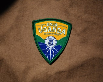 Jinja, Uganda Travel Patch - Source of the Nile - Woven, Iron-on