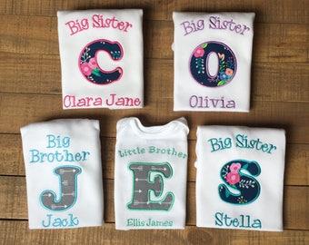 Big Sister Shirt - Promoted to Big Sister Shirt - BIg Sister Little Sister Outfit - Big Brother Shirt - Big Brother Announcement Shirt