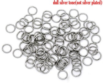 30 rings (8 mm) stainless steel - Platinum color