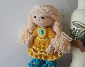Beautiful doll/ crochet doll/ amigurumi doll/ stuffed doll/ gift for girl