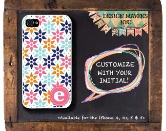 Geometric iPhone Case, Monogram iPhone Case, Personalized iPhone, Fits iPhone 4, 4s, iPhone 5, 5s, 5c, iPhone 6, 6s, 6 Plus, Phone Case