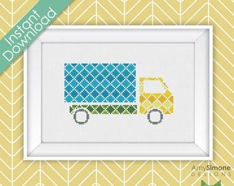 Truck Lorry Car Cross Stitch Pattern