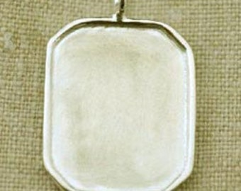 Sterling Silver Rimmed Cushion Charm