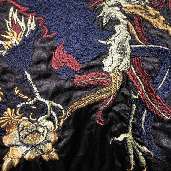 Peacock Quilted Sukajan Phoenix Eagle Bird Jacket Reversible Japanese Japanese Very Bomber Souvenir Yokosuka Embroidery Big Vintage Nice H6qt8n8