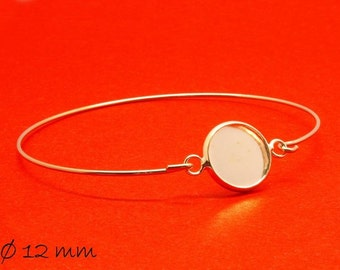 3 bracelet blanks cabochon version 12 mm silver