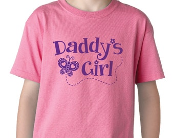 Daddy's Girl Kids T-Shirt, with FREE Hair Bow!