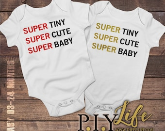 Baby | Super Tiny Super Cute Super Baby Baby Bodysuit DTG Printing on Demand