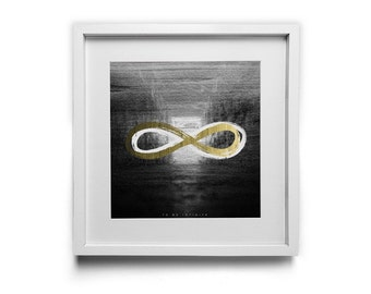 To Be Infinite - Square Art Print