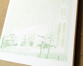 LIMA Peru LDS Temple (Note Card) Watercolor Print