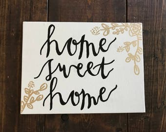 Home Sweet Home Mini Canvas