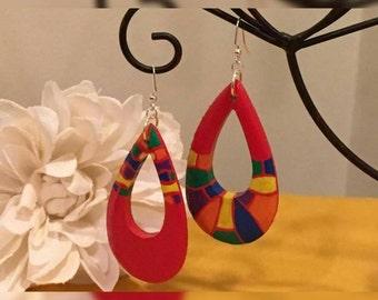 LGBTQ Topsy Turvy Teardrop Earrings