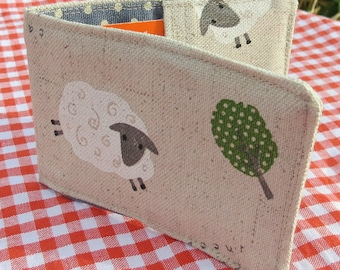 Travelcard Sleeve.  Oyster Card Holder.  Sheep design.