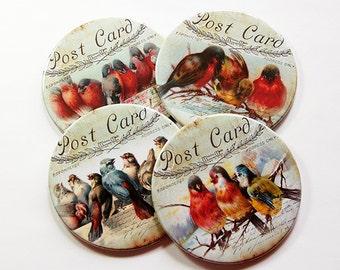 Drink Coasters, Bird Coasters, Coasters, Tableware, Hostess Gift, Housewarming Gift, Birds, Gift for home, housewares, home decor (5111)