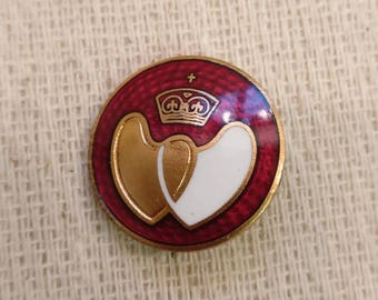 Vintage British Blood Donor Badge, enamel