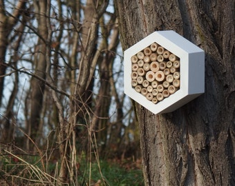 BEE HOTEL, Insect house, Mason bee home - Hotel Snow
