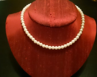 Vintage Satin Look Beaded Necklace