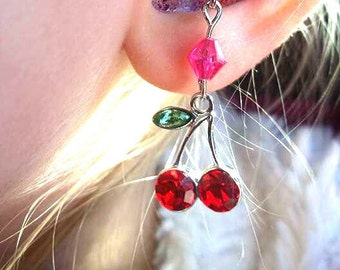 Hearing Aid Charms: Red Ripe Cherries!