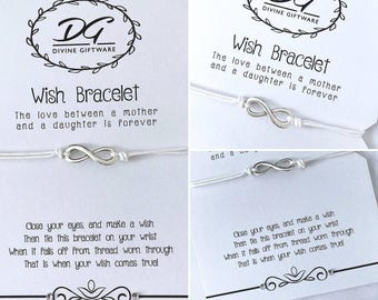 A Mother And Daughter's Love Is Forever Wish Bracelet