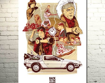 Back to the Future Car DeLorean DMC 12 Movie Fan 2 Vintage posters wall decoration gift 2018 new