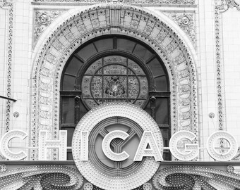 Chicago art photo print, black and white photography, city picture large canvas, architecture wall decor 5x7 11x14 12x12 12x16 16x20 30x40