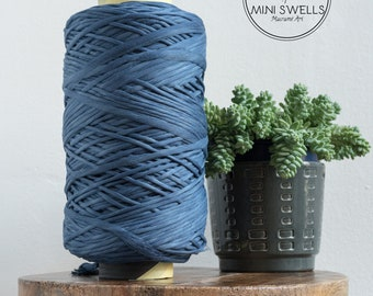 Cobalt Blue Cotton Rope - Super Soft Luxe String Cotton Cord - 5mm - Macrame Rope - Diy Macrame - Weaving - Macrame
